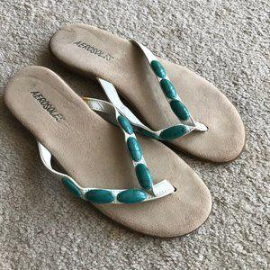 Aerosoles Turquoise Bead Sandals 6